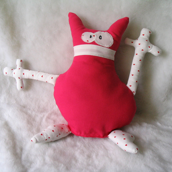 Doudou Crazy Cat rose