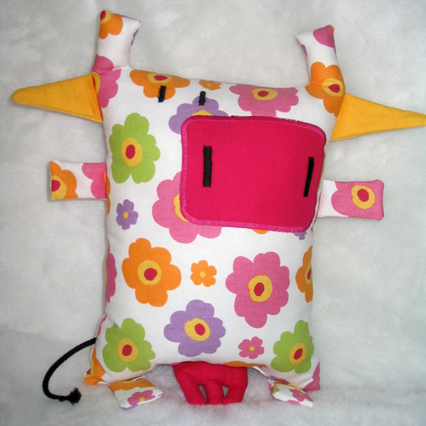 Doudou vache flower power