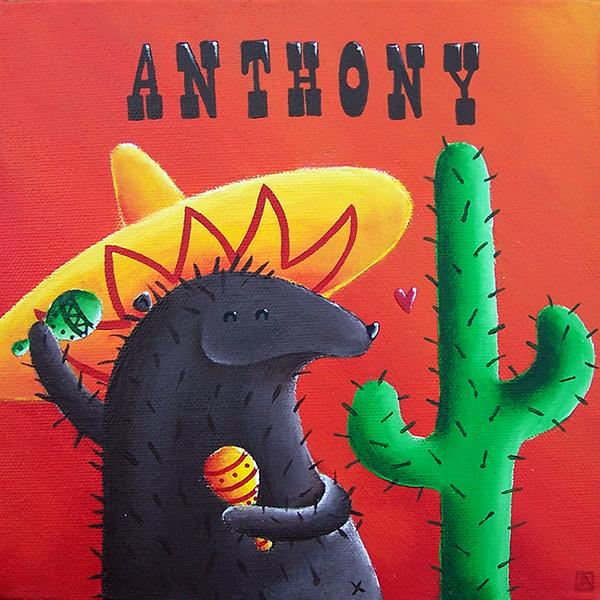 tableau hérisson mexicain