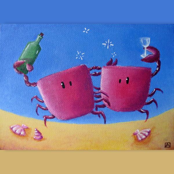 tableau crabes un peu éméchés