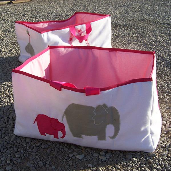 Rangements gigognes en tissu chambres d'enfant savane