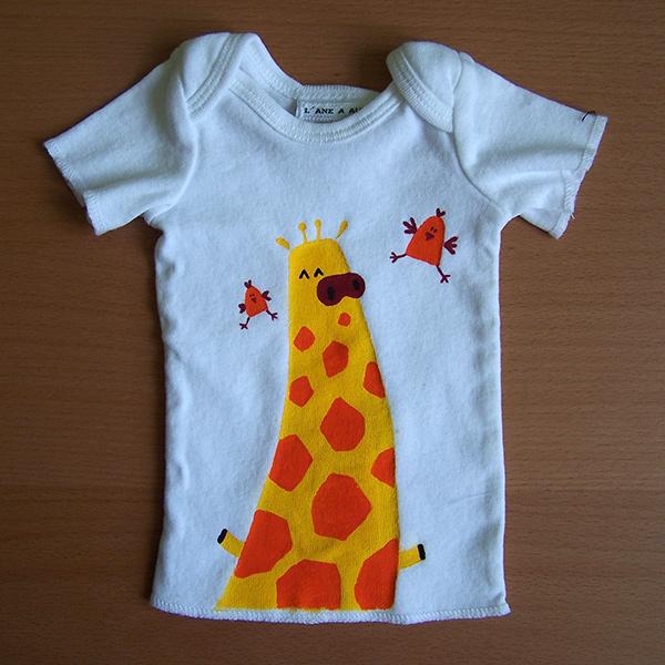 t-shirt enfant girafe