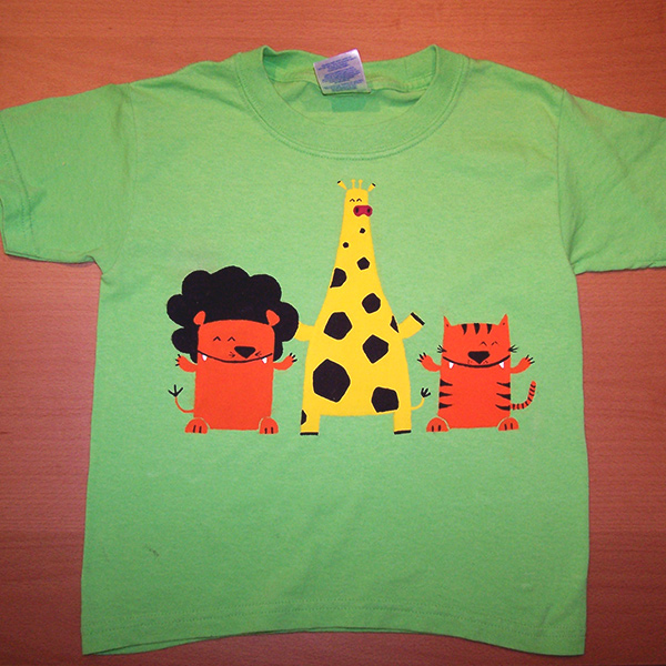 t-shirt enfant animaux de la jungle