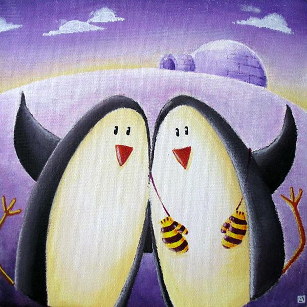 Duo de pingouins sur la banquise