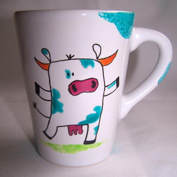 mug vache au trait