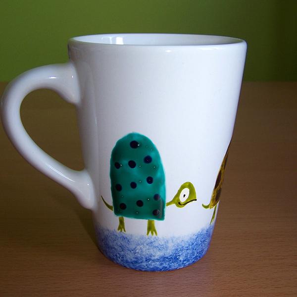 mug tortue bleu et vert